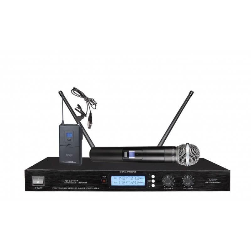 Радиомикрофоны BKR BU-3820 (ручной и петличный)